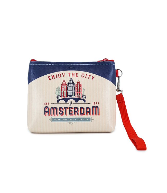 12 stuks portemonnee/tasje Amsterdam huisjes