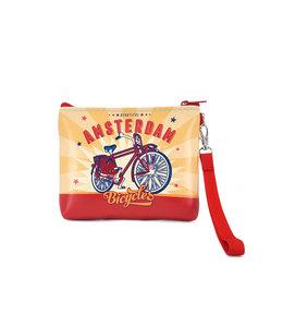 12 stuks portemonnee/tasje Amsterdam fiets