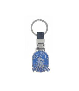 12 stuks sleutelhanger monocolor Holland molen blauw