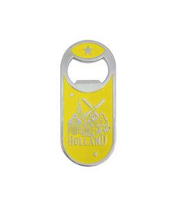 12 stuks opener magneet monocolor Holland dorp geel