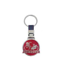 12 stuks monocolor Amsterdam fiets rood