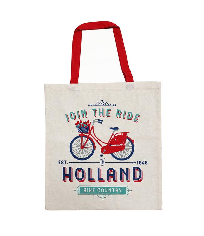 6 stuks tas katoen Enjoy the Ride Holland