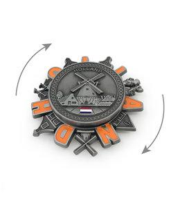 12 stuks magneet metaal spinner Holland molen tin