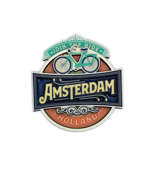 12 stuks MDF Vintage Amsterdam Join The Ride