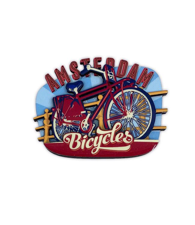 12 stuks MDF vintage Amsterdam bicycles bridge