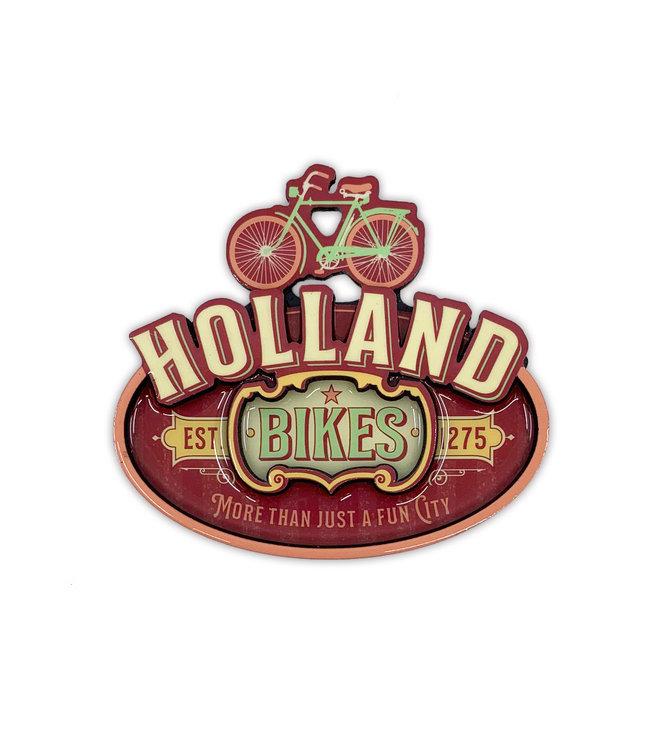 12 stuks MDF Vintage Holland Bikes Red