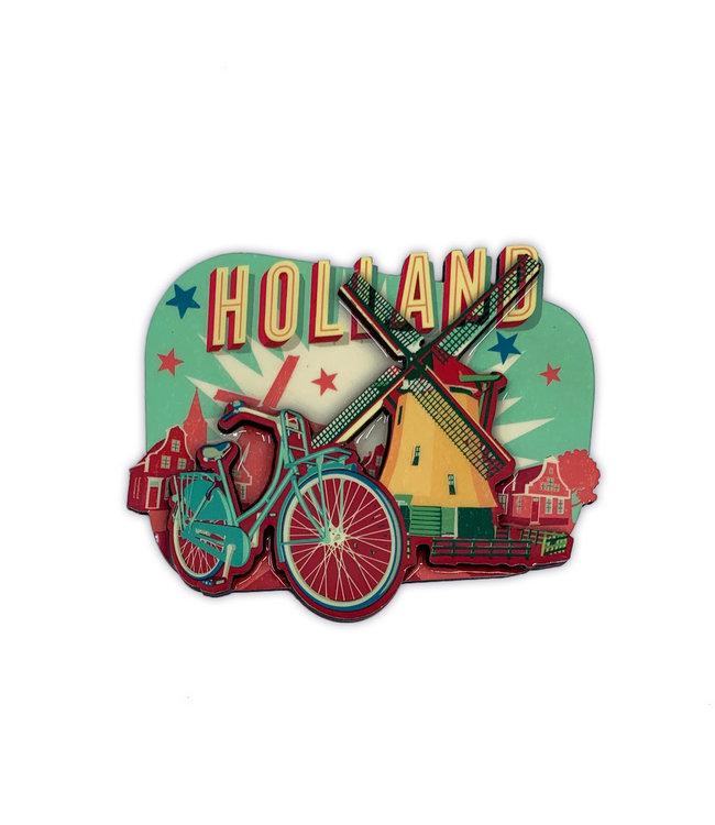 12 stuks MDF vintage Holland windmolen