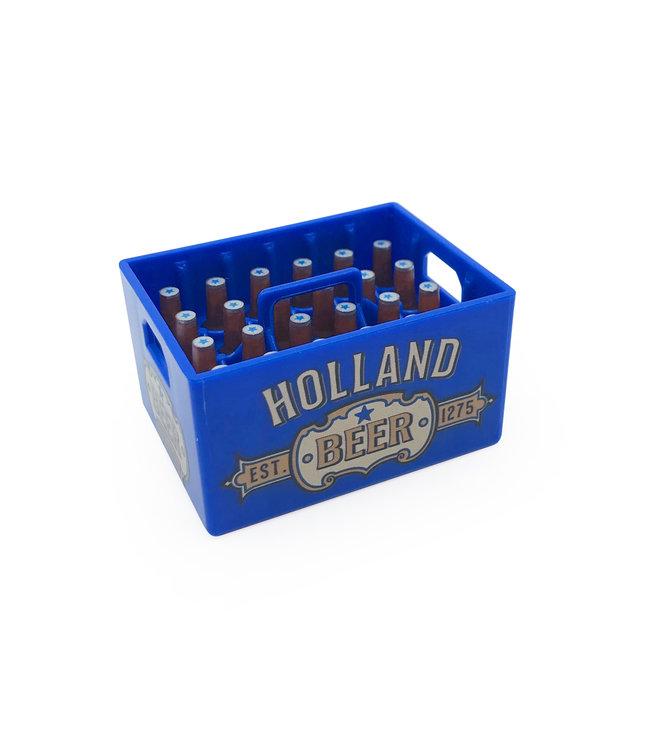 12 stuks opener magneet kratje bier Holland blauw