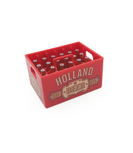 12 stuks opener magneet kratje bier Holland rood