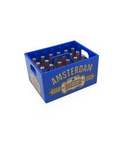 12 stuks opener magneet kratje bier Amsterdam blauw