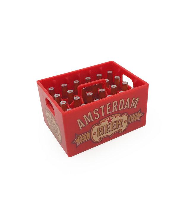 12 stuks opener magneet kratje bier Amsterdam rood