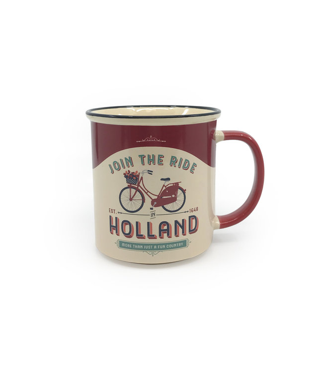 Beker vintage Holland join the ride