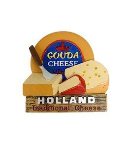 12 stuks 3D magneet traditonal cheese Holland