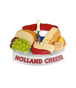12 stuks 3D magneet cheese & grapes Holland