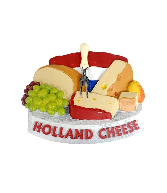 12 stuks 3D magneet kaas/cheese & grapes Holland