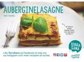Terrasana Receptkaart A6 lasagne aubergine tomaat