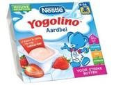 Nestle Yogolino aardbei 6 mnd 100 gram