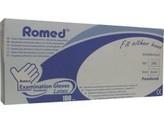 Romed Latex handschoen niet steriel gepoederd S