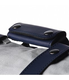 straps + handle - dark blue/leather