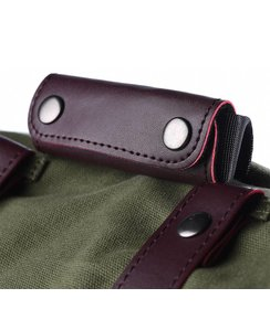 straps + handle - dark bordeaux/leather