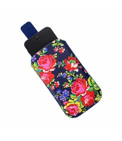 Navy Rose mobile pouch