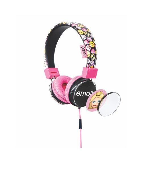Emoji Flip & Switch kids headphone - Pink