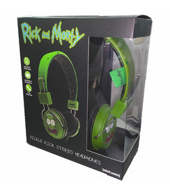 Pickle Rick headphones