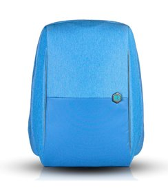 "anti-theft backpack - Light Blue (17""/with rain cover)"