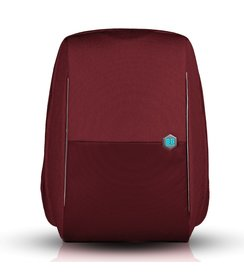 "anti-theft backpack - Burgundy (17""/16L)"
