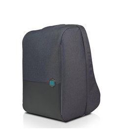 "anti-theft backpack - Black Asphalt (15""/with rain cover)"