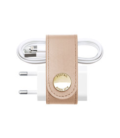 leather iPhone organizer (Blush)