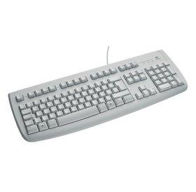 Logitech Logitech White deluxe 250 KBD PS2 toetsenbord