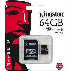 Kingston Kingston Micro SD kaar incl. converter  64 GB Class 10 U1