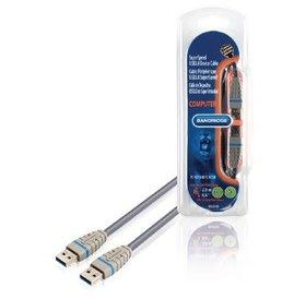 Bandridge Bandridge USB 3.0 (M) naar USB 3.0 (M) kabel 3 meter