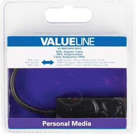 Value Line ValuelineMHL adapter cable MIcro USB B (M) naar HDMI (F)