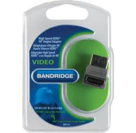 Bandridge HDMI (M) naar HDMI (F) adapter hoek 90 graden