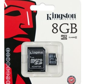 Kingston 8 GB Micro SD Card met converter naar SD