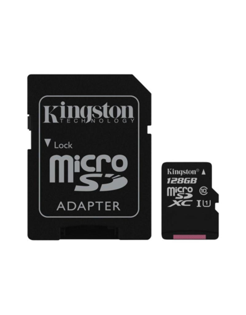 Kingston 128 GB Micro SD kaar met converter naar SD  Class 10 U1