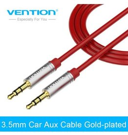 vention Vention Aux 1.5 Meter kabel rood 2x male 3.5 mm jack RED CABLE