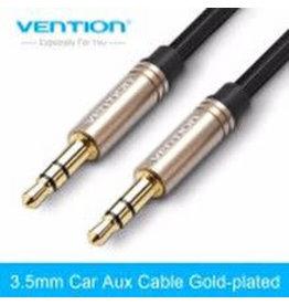 vention Vention Aux kabel 0.5 Meter Zwart 2x male 3.5 mm jack black CABLE