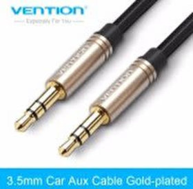 vention Vention Aux kabel 0.5 Meter Zwart 2x male 3.5 mm jack black CABLE