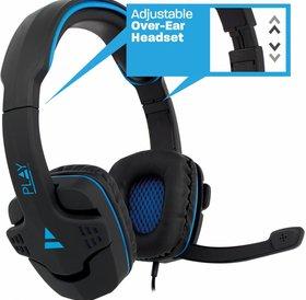 Ewent Ewent PLAY Gaming Headset PL3320 Blauw Zwart met Microfoon 2x Jack 3.5mm