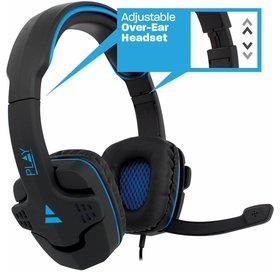 Ewent PLAY | Gaming Headset | Blauw Zwart met Microfoon 2x Jack 3.5mm Koptelefoon