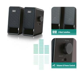 Ewent Ewent | Stereo Speaker set 2.0 | Netvoeding | 3.5mm Jack | 6 Watt
