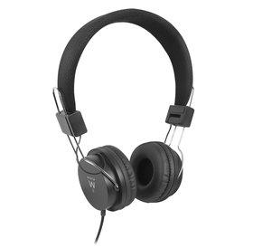 Ewent Ewent Opvouwbare on-ear hoofdtelefoon met comfortabele oorkussens en verstelbare hoofdband