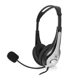 Ewent Ewent Stereo headset met microfoon en volumeregeling