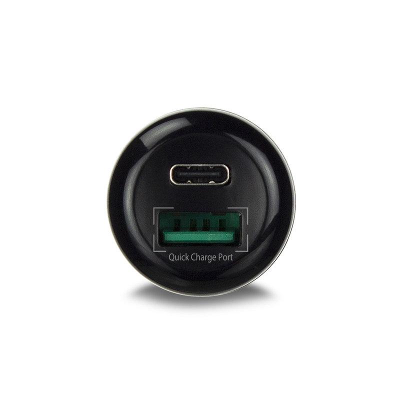 Ewent Ewent | 2-Poorts USB-C en USB-A Autolader 36W met Power Delivery en Quick Charge