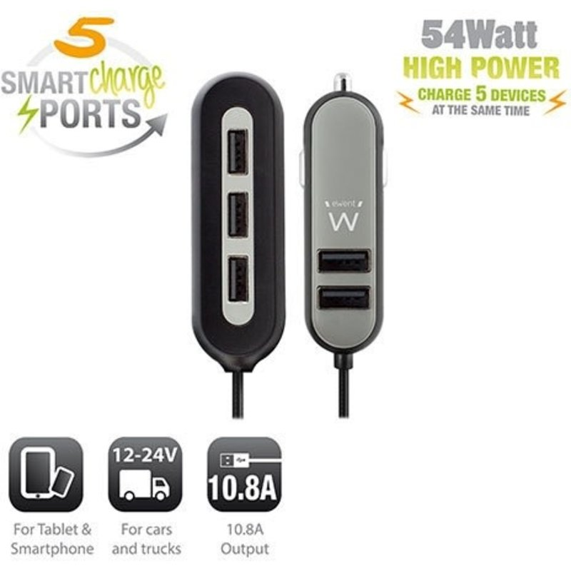 Ewent Ewent | Car Charger 54 watt High Power