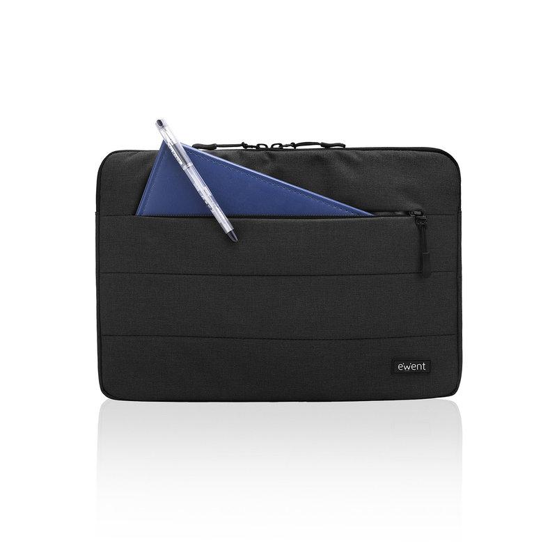 Ewent Ewent   City Sleeve   Notebook 15.6 Inch   Zwart   Met Voorvakje