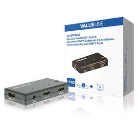 Valueline HDMI Switch | 2 ports | Zwart